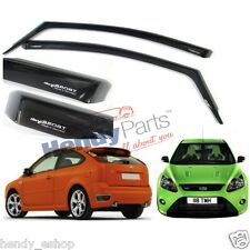 New! GENUINE FORD FOCUS MK2 RS ST225 SPORT 3 DOOR CLIMAIR WIND AIR DEFLECTORS