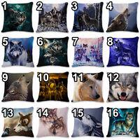 3D Owl Wolf Animal Print Sofa Bed Home Decor Throw Pillow Cushion Cover Case
