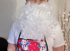 BARBA Babbo Natale-Elasticizzato Costume-Natale Prop-BARBA BIANCA