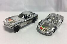 2 Vintage 1:64 Plastic Cars, Hong Kong, Cobra Daytona and Lola (?)