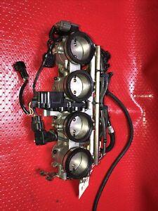 2006 06 07 KAWASAKI NINJA ZX10R ZX10 R THROTTLE BODIES FUEL INJECTORS 21.122