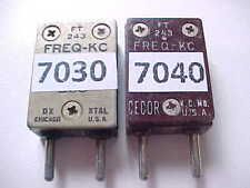 LOT OF 2 HAM RADIO CRYSTALS FOR THE OLD BOATANCHOR 40M CW TRANSMITTERS