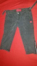 Tripp IS6717 Black Punk Capri/Cutoffs with Leg Zippers, Women's size 3