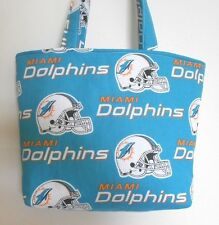 Handmade NFL Miami Dolphins Tote Purse Bag