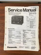Panasonic SG-H10 Stereo Service Manual *Original*