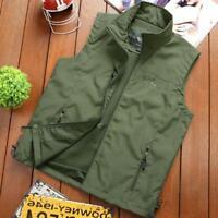 Men's Combat Army Military Waist Coat Fishing Assault Tactical Jacket Vest New