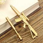 Creative Novelty Cool Gold Rifle Shape Design Black Ink Ballpoint Pen Stationery