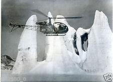 hélicoptère . Glaciers . superbe photo des années 50.Ministère des Armées