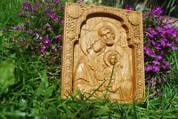 MAX KOZAK WOOD CARVED CHRISTIAN ICON RELIGIOUS HOLY FAMILY WALL HANGING ART WORK