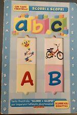 Abc Scorri e Scopri Finestrelle Italian Activity Book Kids Children Pre-School