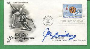 Detroit Tigers Joe Ginsberg Signé Special Olympiques Premier Jour Housse 1985 -