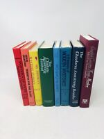Lot of 8 Vintage Rainbow Decor, Staging Books, Instant Library Mysteries