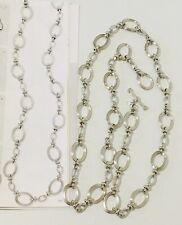 Premier Designs SLEEK LINKS imitation rhodium plated necklace 001