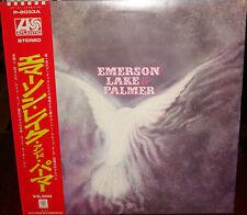 """EMERSON LAKE & PALMER """"same"""" 1970 Japan debut Lp w/RED obi ELP PROGRESSIVE NICE"""