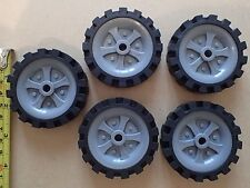 Knex 2 1/2 inch wheels and tyres x 5