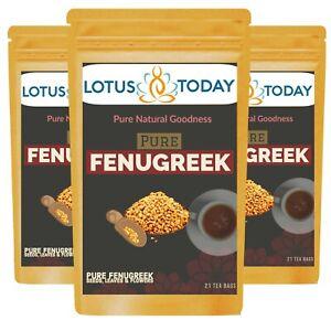 Pure Fenugreek Tea |100% Fenugreek Seeds Tea, Methi Tea, Detox Tea Spice Tea Bag