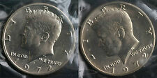 1972 P & D Kennedy Half Dollar Coin from US Mint Set 2 BU Cellos Coins 50c Cello