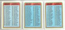 1984-85 O-Pee-Chee Hockey 3-card Checklist Lot