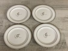 """Lenox Federal Platinum Bread & Butter Plate 6.25� With The Letter """"G� On Them"""