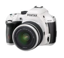 A - Pentax Ricoh K-50 White Digital SLR Camera + DAL 18-55mm WR White Lens Kit