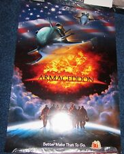 ***L@@K ARMAGEDDON MOVIE POSTER FROM McDONALD's 1998 - VINTAGE ORIGINAL GREAT***