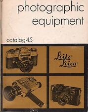 1972 LEICA CAMERA CATALOG BROCHURE -M5-M4-MDa-VISOFLEX-LEICAFLEX-PRADOVIT