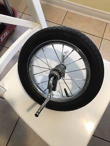 Schwinn Roadster Trike Tricycle Front Wheel & Axle-Tire size 12 1/2 x 2 1/4 Used