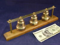 Bells Chimes 3 Horse Pony Buggy Ice Cream Bell Brass Shaft  Pole Sleigh