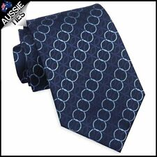 Midnight Blue With Cascading Rings Men's Tie