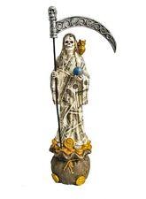 "New listing 14"" Money Santisima Santa Muerte Statue Holy Death Grim Reaper Sculpture"