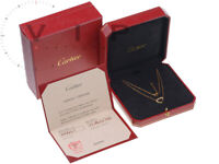 CARTIER TRINITY HEART COLLIER KETTE HERZ-ANHÄNGER 18K/750 TRICOLOR GOLD NECKLACE
