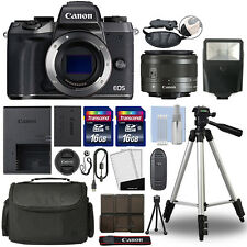 Canon EOS M5 Mirrorless Digital Camera with 15-45mm STM Lens Black + 32GB Bundle