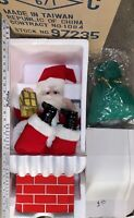 VINTAGE 1980'S TELCO Santa In Chimney MOTION-ETTES IN Org BOX Christmas. Works!