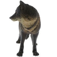 Realistic Animal Model Figurine Action Figures Playset Kids Toy Black Wolf