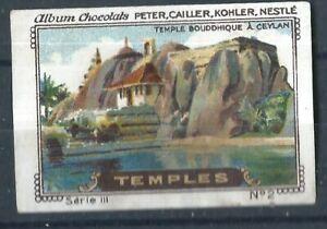 Ceylon Old Poster Stamp / Cinderella -  Temple