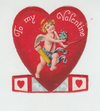 "[B68106] OLD VALENTINE CARD ""TO MY VALENTINE"" with standup ends"