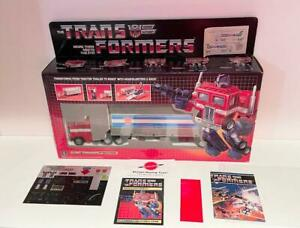 1984 Optimus Prime Pepsi MIB Complete Unapplied Decals G1 Transformers