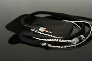 0,78 mm 2 pin cable  for AUDEZE Lcdi4 - Silver conductor 8 cores-3.5mm or 2.5mm
