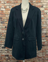 Chico's Women's Size 1 Back two Button Lined Long Sleeve Stretch Jacket Blazer