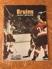 1974 BOSTON BRUINS vs MONTREAL CANADIANS Program un-scored BOBBY ORR