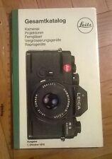 New ListingLeica Catalog Gesamtkatalog Leitz 1986 manual book Photo Camera Lens photography