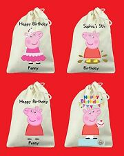 Set of 6 Totally Custom Peppa Pig Birthday Party Favor Bags