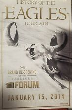 History Of The Eagles Tour 2014 - Re-opening of the fabulous forum poster (Rare)
