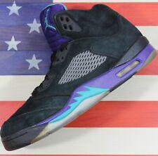 Nike Air Jordan Retro 5 V Black Grape Emerald Bel Air Purple [136027-007] - 10.5