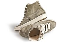 Women Sneakers LEATHER & CROWN Military green Trainers Shoes 38 Uk  5 US 8