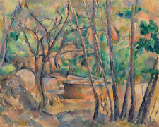 Millstone and Cistern under Trees by Paul Cézanne 60cm x 48cm Art Paper Print