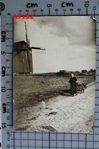 Altes ORIG. FOTO ca. 30er J. WINDMILL MÜHLE in KRECKOW (bei STRASBURG UCKERMARK)