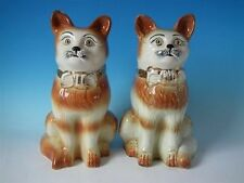 Unboxed Staffordshire Pottery Cats