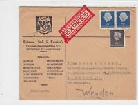 netherlands 1954  stamps cover ref 20890