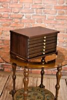 Chest Coin Tray COLLECTION CABINET for 6 Trays Perfect for Coins Medals MARCO-6